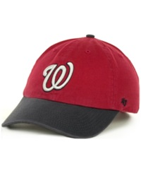 '47 Brand Washington Nationals Clean Up Hat Red Navy