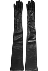 Alexander Mcqueen Leather Gloves Black