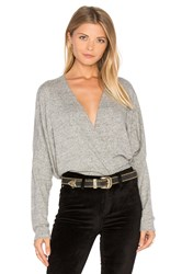 Project Social T Close To Me Surplice Top Grey