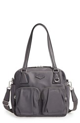 M Z Wallace Mz 'Small Roxy' Bedford Nylon Shoulder Bag Grey Marcasite