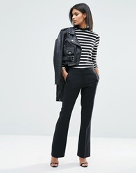 Asos Tailored Bootcut Trousers Black