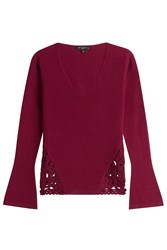 Etro Wool Cashmere Blend Pullover Red