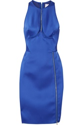 Dion Lee Radius Cutout Satin Dress Blue
