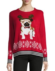 Context Christmas Pug Sweater Red Combo