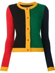 The Elder Statesman Colour Block Cardigan Multicolour