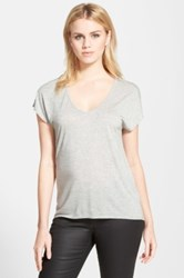 Trouve 'Easy' V Neck Tee Gray
