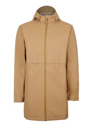 Topman Black Rains Beige Long Rain Jacket
