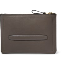 Tom Ford Textured Leather Document Holder Gray
