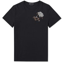 Alexander Mcqueen Embroidered Rose Tee Black