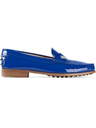 Tod's Patent Loafers Blue