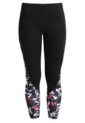 Gap Tights Graffiti Print Black