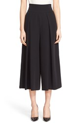 Milly Women's Crepe High Waist Culottes Black