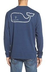 Men's Vineyard Vines Pocket Long Sleeve T Shirt Blue Blaze