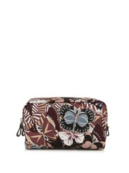 Valentino Butterfly Print Cosmetics Bag Black Multi