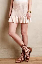 Anthropologie Pleated Mini Skirt Nude