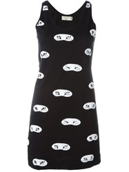 Maison Kitsune Fox Eye Print Tank Dress Black