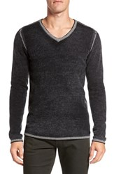 John Varvatos Men's Star Usa Merino Wool Blend V Neck Sweater