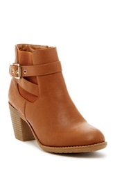 Top Guy Place 2 Low Heel Bootie Brown