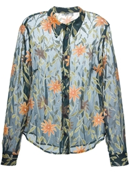 Moschino Vintage Sheer Floral Shirt