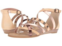 Blowfish Blaw Dust Natural Rose Gold Dyecut Bronze Greasy Pu Women's Sandals Beige