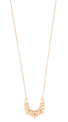 Pamela Love Mini Tribal Spike Pendant Necklace Rose Gold