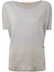 Fay Colour Block Sweater Grey