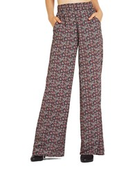 Bcbgeneration Printed Flared Pants Red Ginger