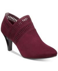 Karen Scott Marius Perforated Dress Booties Only At Macy's Women's Shoes Wine