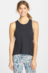 Alternative Apparel Back Cutout Tank Black