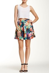 Romeo And Juliet Couture Floral Print Skater Skirt Multi