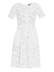 Saloni Jesse Checked Jacquard Dress