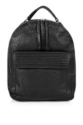 Topshop Leather Zip Around Backpack Black