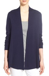 Women's Eileen Fisher Lightweight Silk And Organic Cotton Straight Long Cardigan