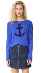 Sundry Anchor Crew Neck Sweater Blue