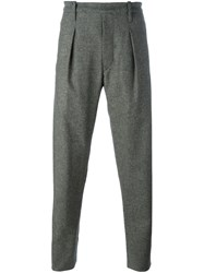 Christophe Lemaire Pleated Tapered Trousers Grey