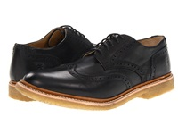 Frye James Crepe Wingtip Black Soft Vintage Leather Men's Lace Up Wing Tip Shoes