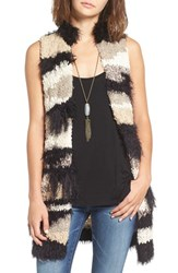 Free People Women's 'Picture Perfect' Fuzzy Open Front Vest