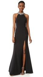 Marchesa Halter Gown Black