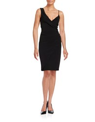 Nicole Miller Asymmetrical Ruched Dress Black