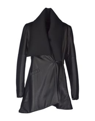 Collection Privee Collection Privee Leather Outerwear Black