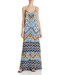 Red Carter Beach Babe Maxi Dress Swim Cover Up Multi