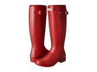 Hunter Original Tour Military Red Women's Rain Boots Tan