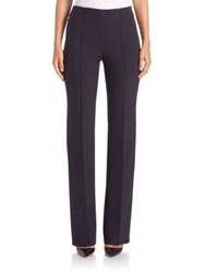Escada Tzella Straight Leg Techno Pants Navy Black