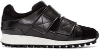 3.1 Phillip Lim Black Leather Trance Sneakers