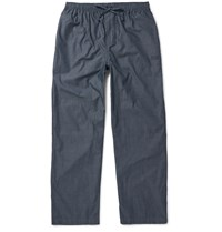 Hugo Boss Cotton Dobby Pyjama Trousers Blue