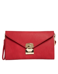 Marc B Cressida Large Envelope Clutch Red