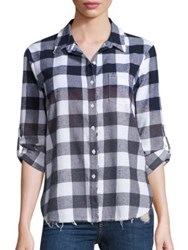 Stateside Plaid Flannel Shirt Ombre