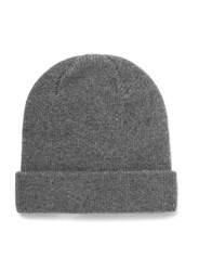 Selected Homme Grey Wool Ribbed Beanie Hat