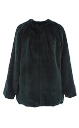 Marissa Webb Chase Luxe Faux Fur Coat Dark Green