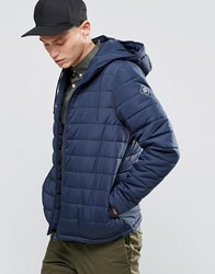 Element Hayden Hooded Quilt Jacket Navy Navy